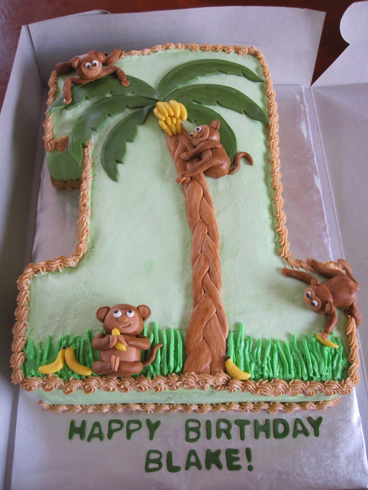 Ms Cakes 1st Birthday Monkey Cake