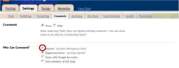 blogger blog formatting