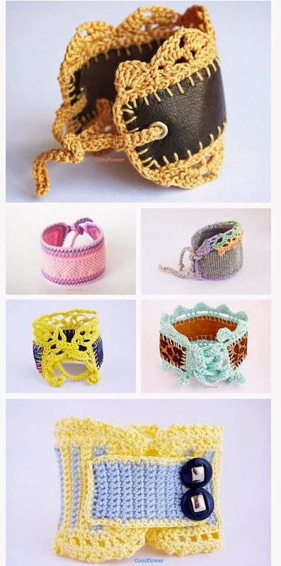 Bracelet au crochet par Cocoflower - www.cocoflower.net