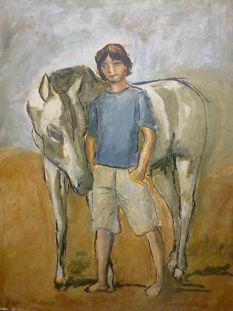 caballo con niño