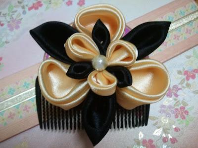 iris, ayame, tsumami, kanzashi, hair comb, Malaysia