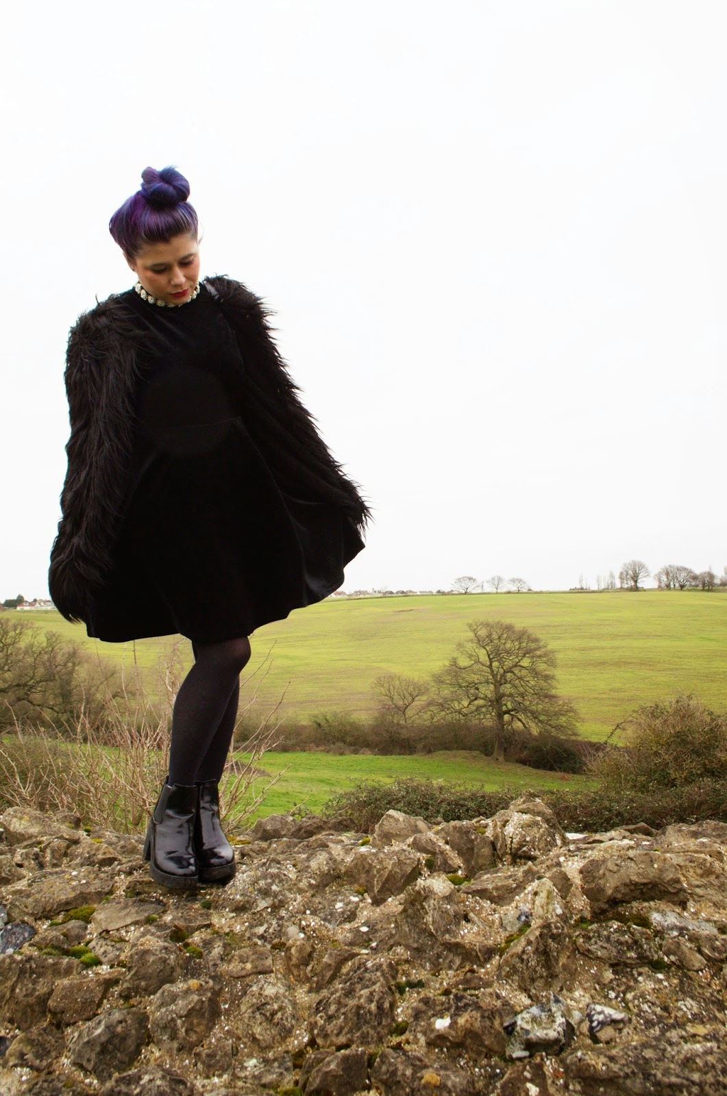 Formal Outfit of the Day: Velvet Oh My London Dress and Ark Fur Coat