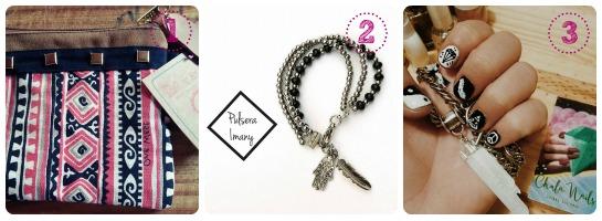 Guia de regalos para el día del amigo. Amiga glam: maximonedero, pulsera y nail art   www.curvaslibres.com