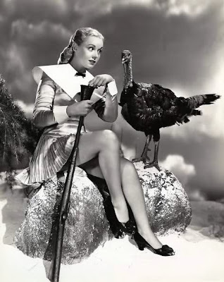 Angela Greene with turkey