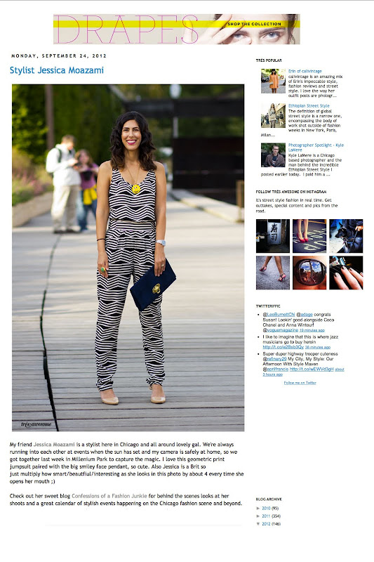 Tres Awesome street style blog features Fashion Junkie