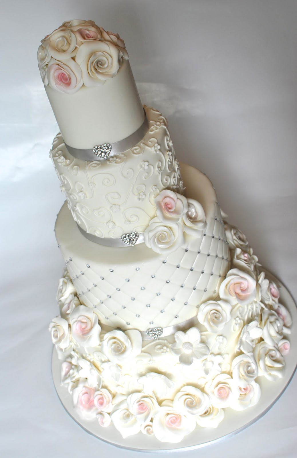 Hope\'s Sweet Cakes: Romantic Rose Wedding Cake and Auburn Groom\'s Cake