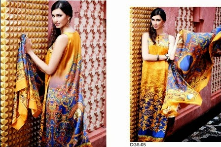 Two Shaded Digital Prints Silk Collection