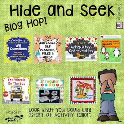 Fabulous prizes to Win in Activity Tailor's Hide and Seek Bloghop!