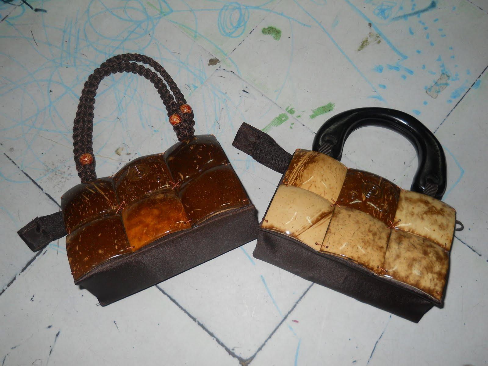 Tas Batok kotak 6 ,tas batok, tas etnik, tas  lokal, tas bahan alam, tas natural