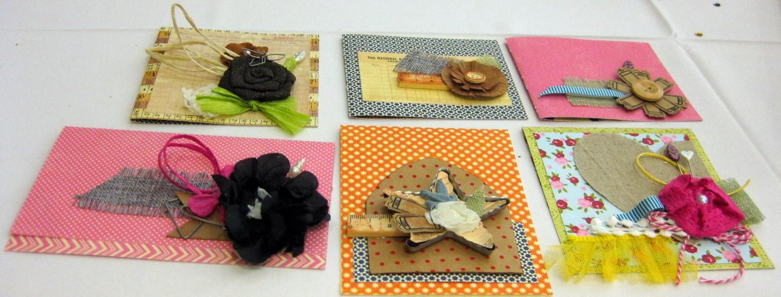 Maya Road workshop completed cards