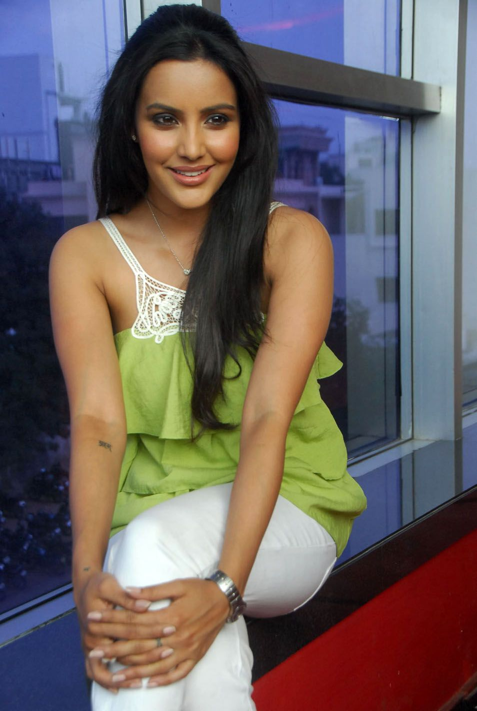 priya anand latest stills 1 - Priya Anand Latest Photoshoot in Green Top white Pants