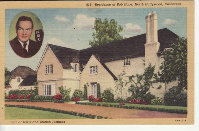 Bob Hope's house. (Postcard).