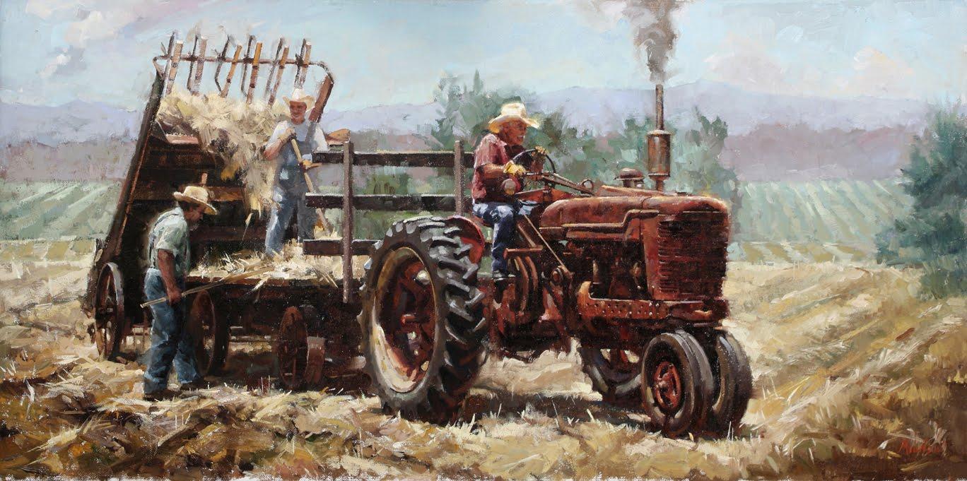 Hay Tractor With Loader : Loose hay loader car interior design