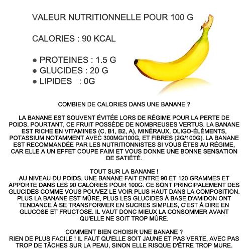 topcalories calories banane combien dans une 100g. Black Bedroom Furniture Sets. Home Design Ideas