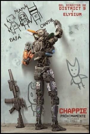 Póster de Chappie, de Neill Blomkamp (2015)