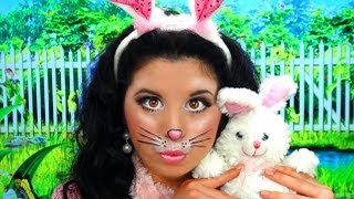 maquillaje para disfraz de conejita de pascua guapa al instante