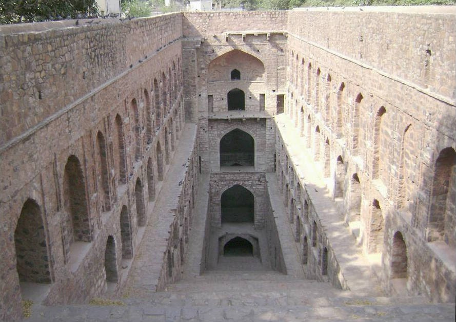 The dired bottom of the Baoli