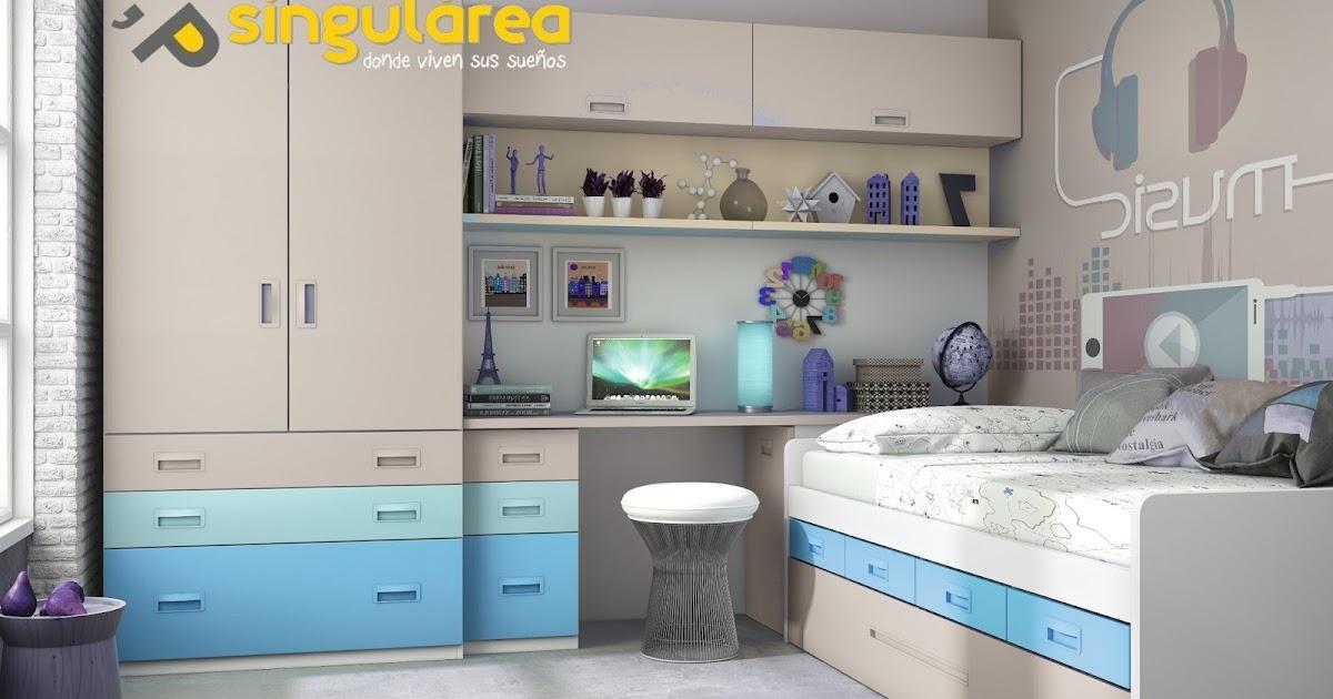 Dormitorio juvenil 605ct277 dormitorios juveniles puerto - Habitaciones juveniles en valencia ...