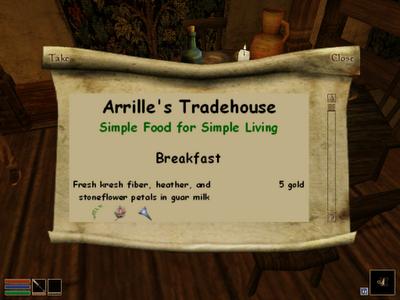 Arrille's Tradehouse Menu v1.1