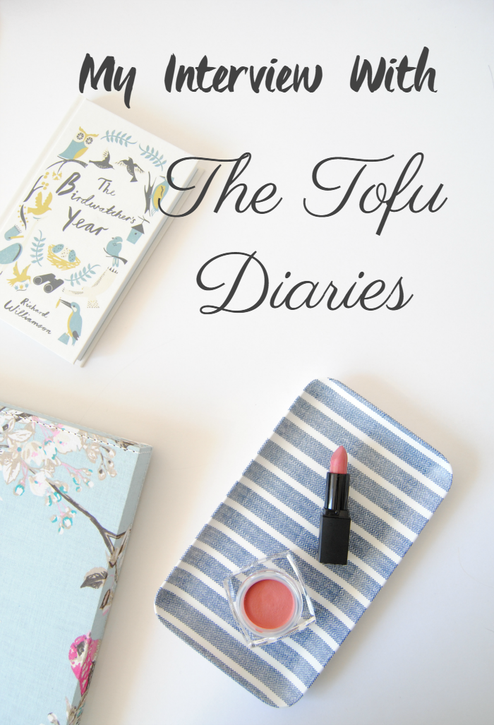 My Interview With The Tofu Diaries. Let's chat about cruelty-free!