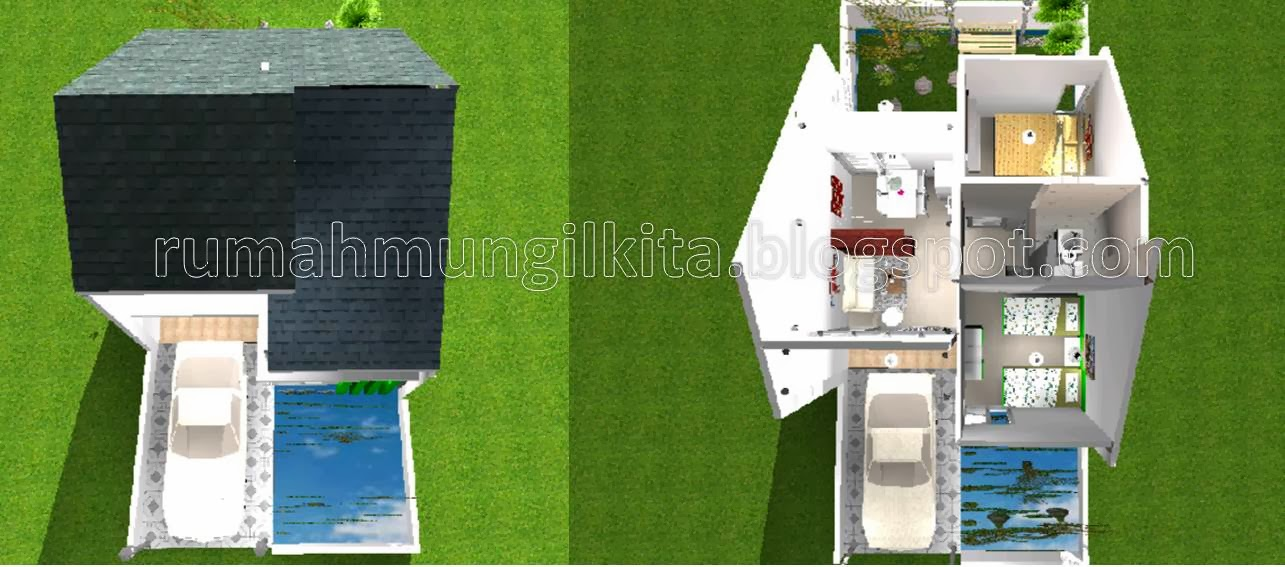 denah rumah tipe 40 tanh 84 yang luas elegan dan nyaman
