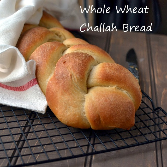Whole Wheat Challah Bread (Eggless recipe)