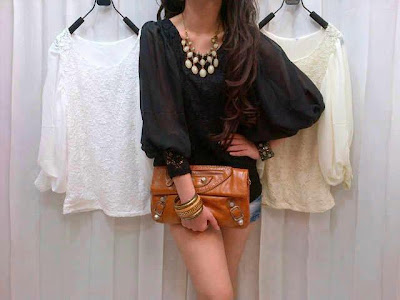 Blouse Brukat Balon