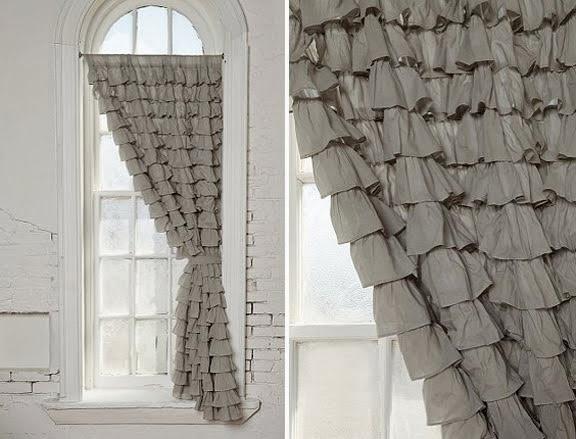 cortina com babado