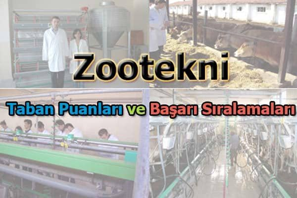 Zootekni Taban Puanları ve Başarı Sıralaması