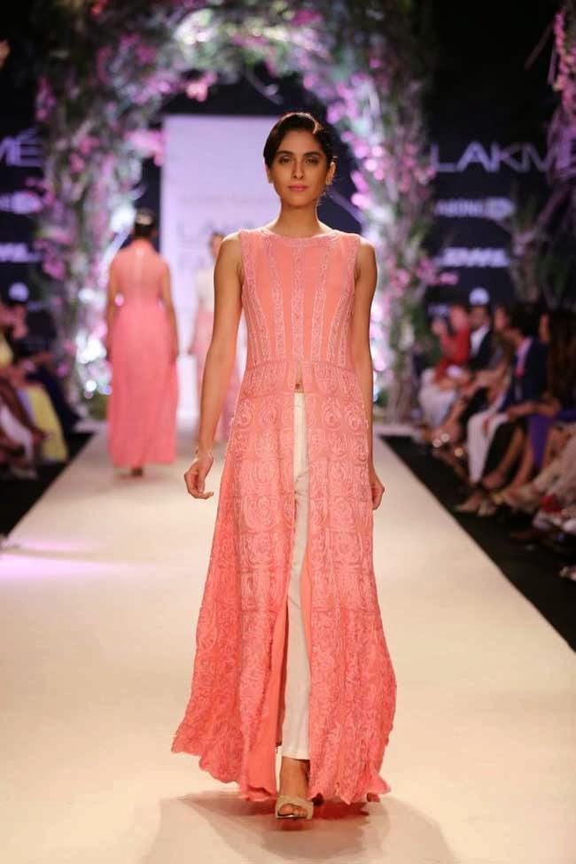 Model at Lakme Fashion Week Summer 2014 Affair
