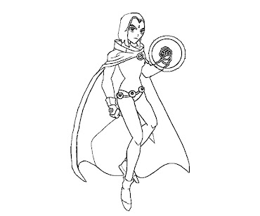 #7 Raven Coloring Page