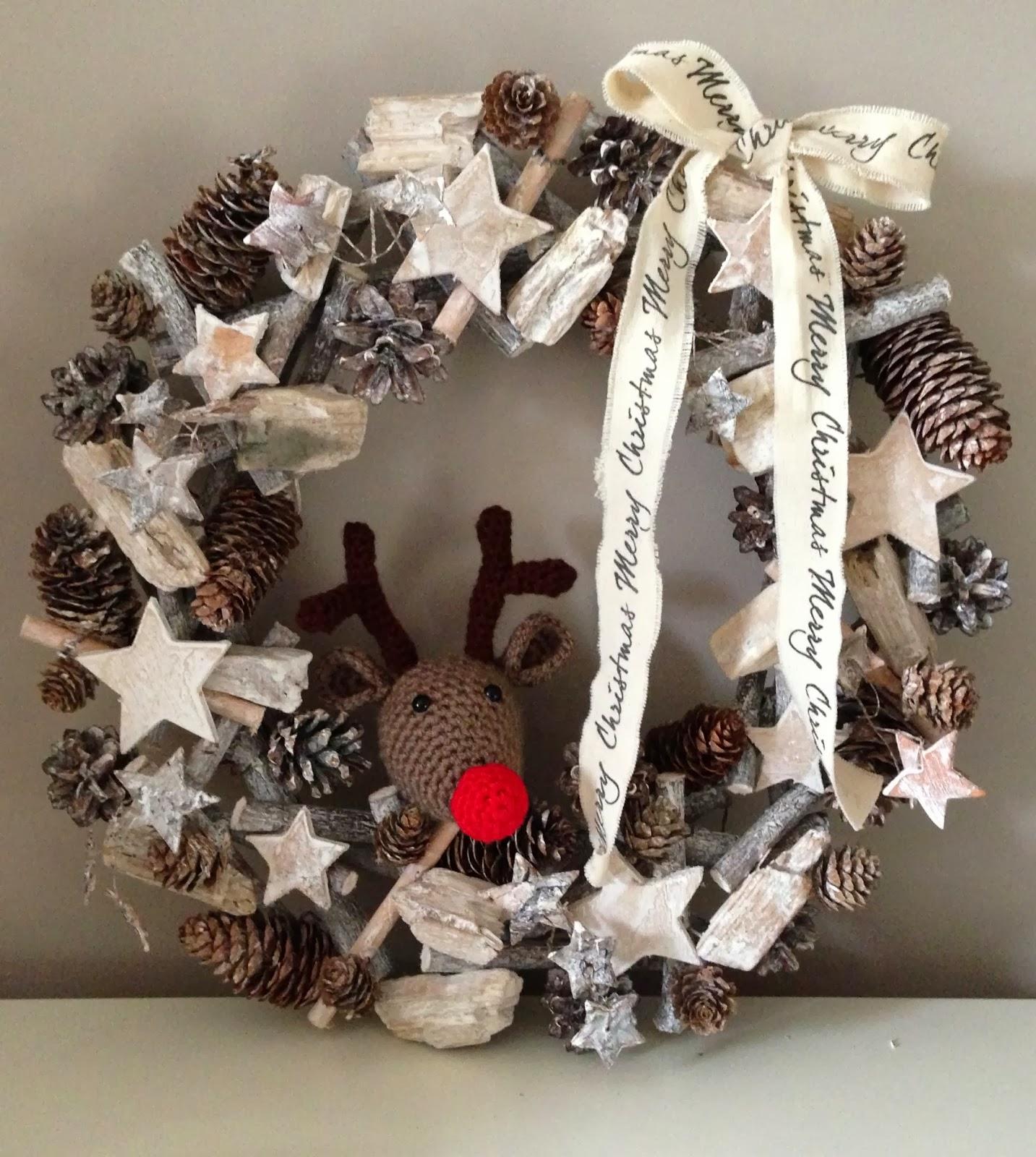 Kneutsel kleine kerst kneutsel for Rendier gewei decoratie