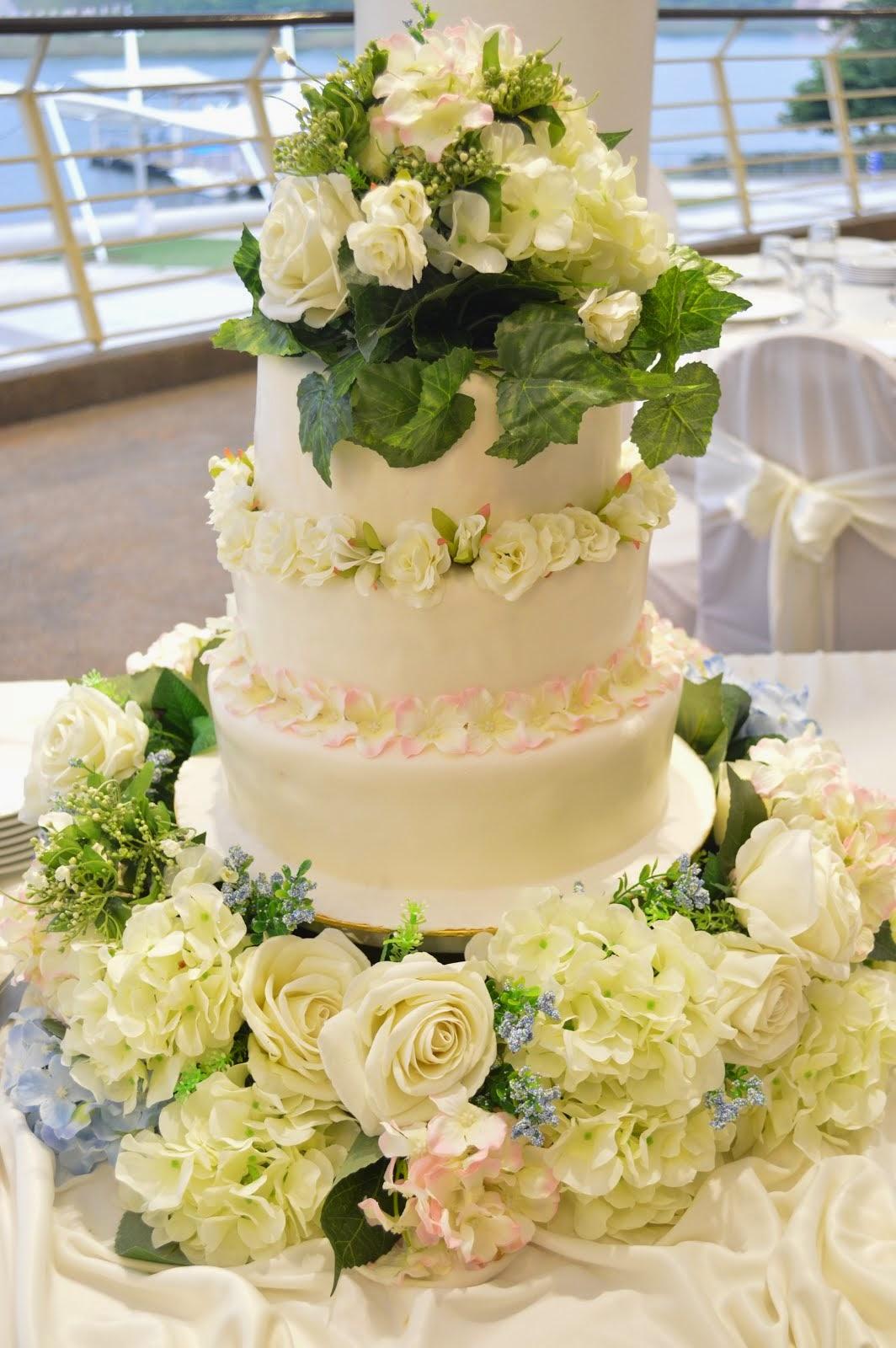 WEDDING CAKE TEMA GARDEN