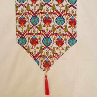 Krem Osmanlı Desen 144*44 cm.