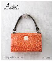 Miche Bag Amber Classic Shell, Orange Purse