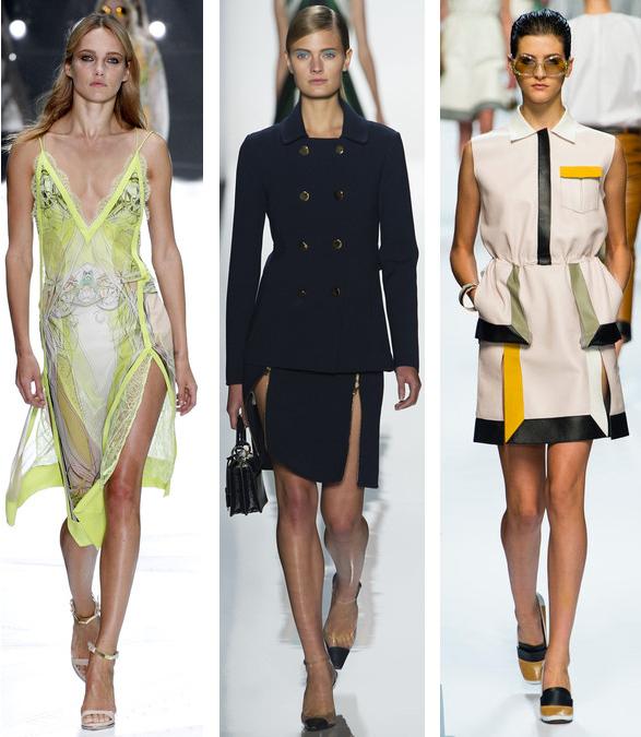 Spring 2013 Double-Slit Trend: Roberto Cavalli// Michael Kors// Fendi