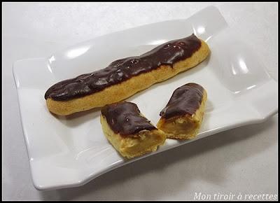 éclair chocolat caramel