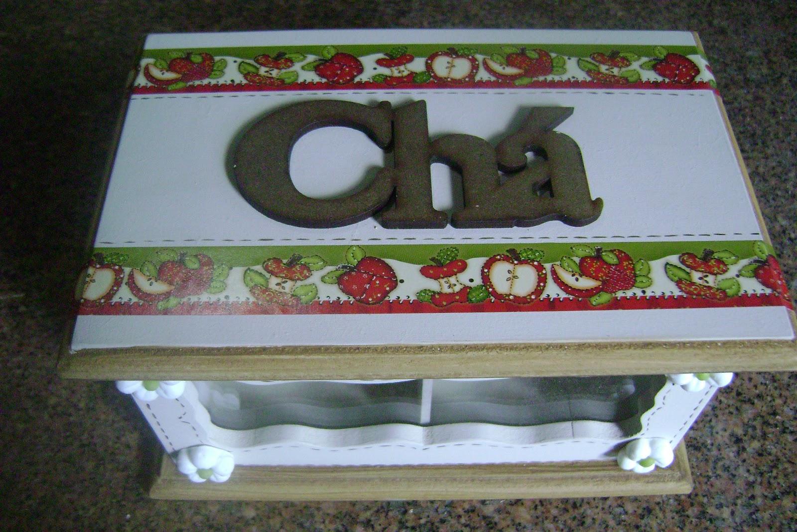 PARA VOCÊ!: Artes em madeira MDF Porta Chás e Porta Erva Mate #486328 1600x1067