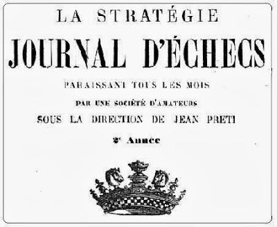 Portada de la Stratégie - Journal d'Échecs - Enero de 1893
