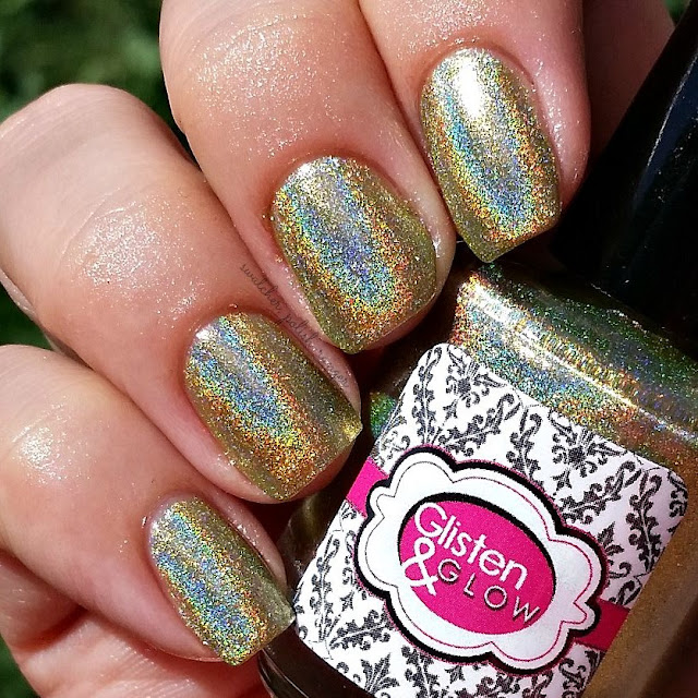 swatcher, polish-ranger | Glisten & Glow Midori Sour in the sun