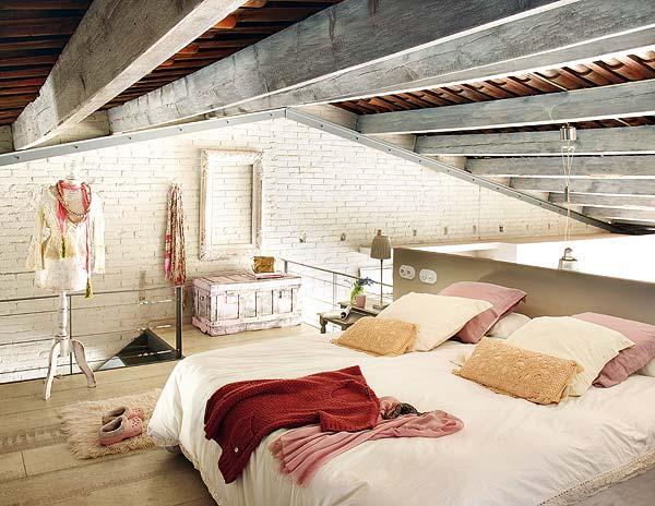 decoracao de interiores sotaos:Vintage Loft Apartments Bedrooms