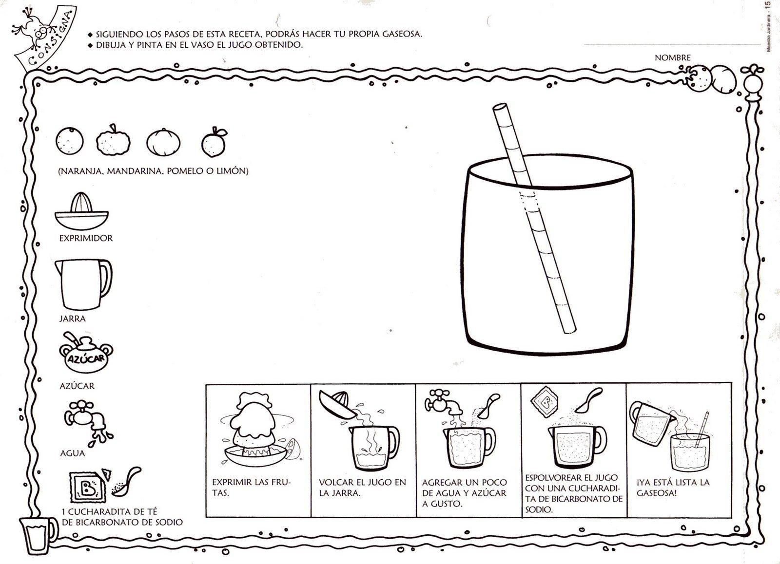 Menta m s chocolate recursos y actividades para for Objetos para cocinar