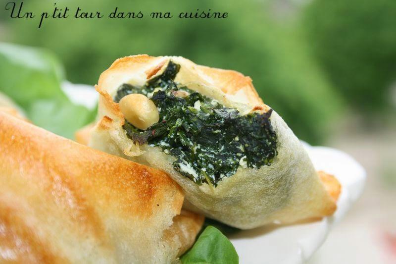 Samossas épinards et fromage de chèvre