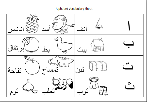 our homeschool journey arabic handwriting activity sheets. Black Bedroom Furniture Sets. Home Design Ideas