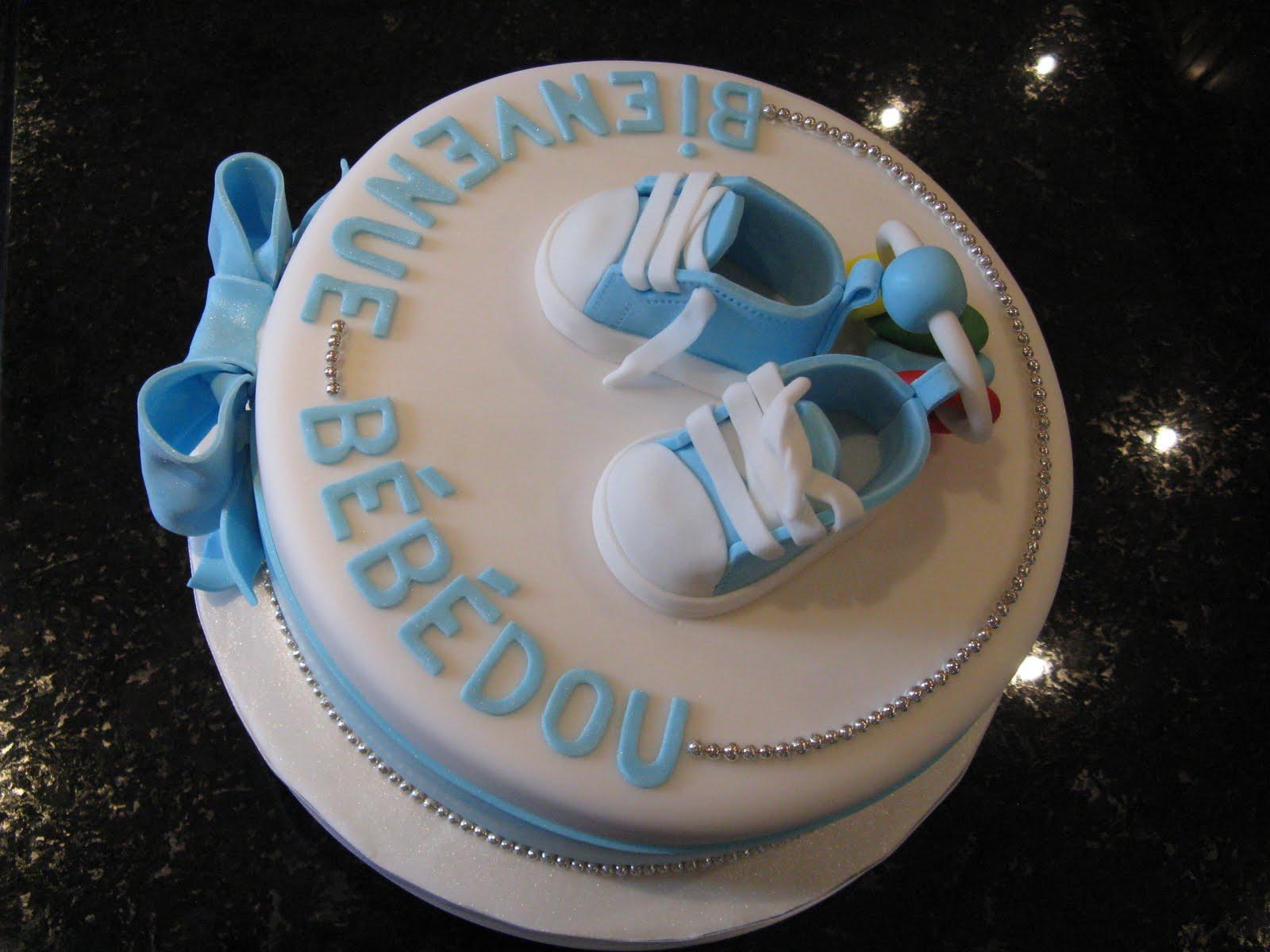 Gâteaux Design: Gâteau shower bébé soulier converse / Baby ...