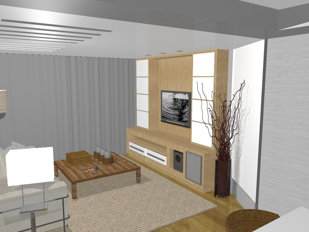 decoracoes de interiores de apartamentos:Sala de janta. Mesa de resina branca. Papel de parede aparador com