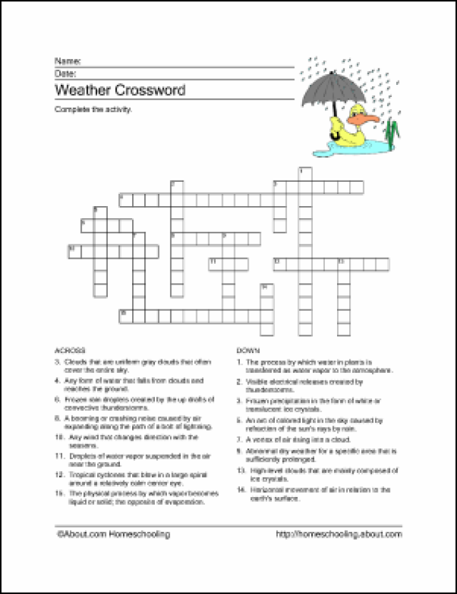 Patties Classroom Weather Activities