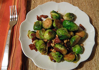 Serving of Warm Brussels Sprout Salad