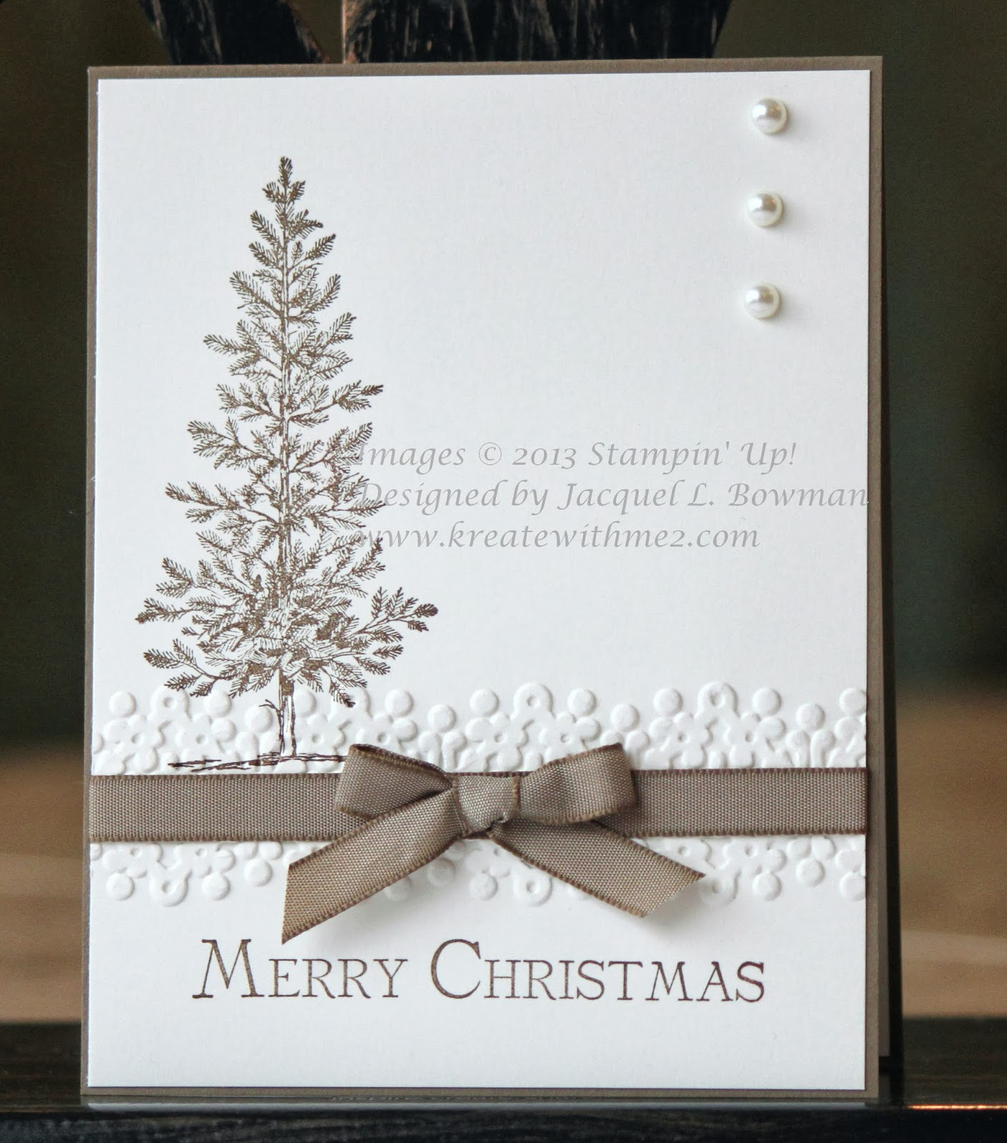 A su lovely as a tree on pinterest a tree stampin up for Elegant homemade christmas cards