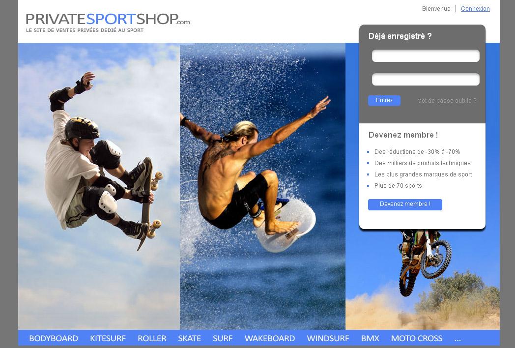 Privatesportshop enfin un site de ventes priv es d di au - Sport ventes privees ...